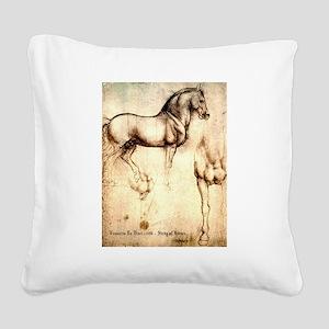 Leonardo da Vinci Study of Horses Square Canvas Pi