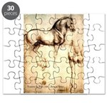 Leonardo da Vinci Study of Horses Puzzle