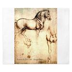 Leonardo da Vinci Study of Horses King Duvet