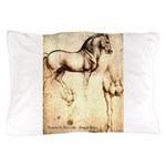 Leonardo da Vinci Study of Horses Pillow Case
