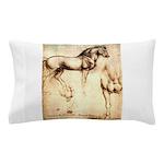Leonardo da Vinci Study of Horses Pillow Case