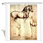 Leonardo da Vinci Study of Horses Shower Curtain