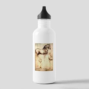 Leonardo da Vinci Study of Horses Water Bottle
