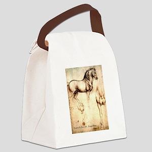 Leonardo da Vinci Study of Horses Canvas Lunch Bag