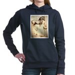 Leonardo da Vinci Study of Horses Women's Hooded S