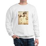 Leonardo da Vinci Study of Horses Sweater