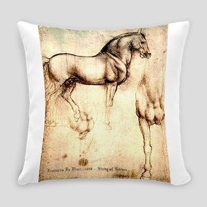 Leonardo da Vinci Study of Horses Everyday Pillow