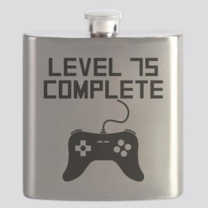 Level 75 Complete 75th Birthday Flask