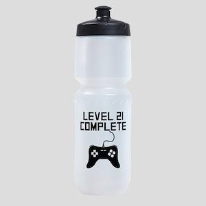 Level 21 Complete 21st Birthday Sports Bottle