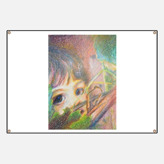 Anna In Grapes - Portrait Of A Girl Banner