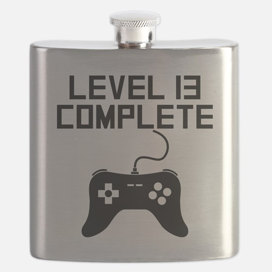 Level 13 Complete 13th Birthday Flask