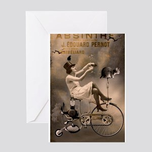 Absinthe Liquor Greeting Cards