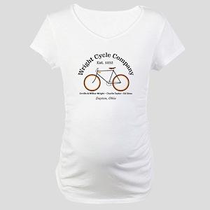 Wright Bicycle Company Maternity T-Shirt