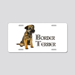Border Terrier Aluminum License Plate