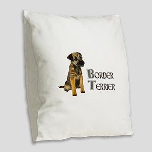 Border Terrier Burlap Throw Pillow