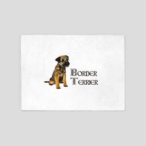 Border Terrier 5'x7'Area Rug