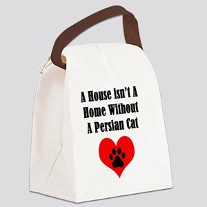 A House Isn't A Home Without A Pe Canvas Lunch Bag