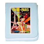Foire De Paris Vintage Travel Poster baby blanket
