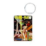 Foire De Paris Vintage Travel Poster Keychains