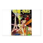 Foire De Paris Vintage Travel Poster Postcards (Pa