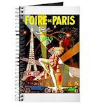 Foire De Paris Vintage Travel Poster Journal