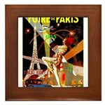 Foire De Paris Vintage Travel Poster Framed Tile