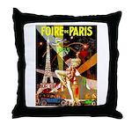 Foire De Paris Vintage Travel Poster Throw Pillow
