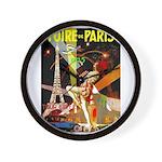 Foire De Paris Vintage Travel Poster Wall Clock