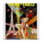 Foire De Paris Vintage Travel Poster Tile Coaster