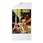 Foire De Paris Vintage Travel Poster Beach Towel