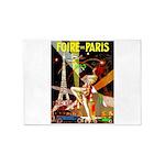 Foire De Paris Vintage Travel Poster 5'x7'Area Rug