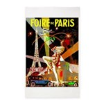Foire De Paris Vintage Travel Poster Area Rug