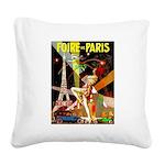 Foire De Paris Vintage Travel Poster Square Canvas