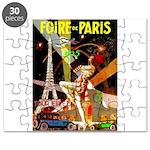 Foire De Paris Vintage Travel Poster Puzzle