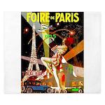 Foire De Paris Vintage Travel Poster King Duvet