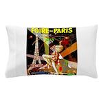 Foire De Paris Vintage Travel Poster Pillow Case