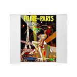 Foire De Paris Vintage Travel Poster Throw Blanket