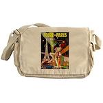 Foire De Paris Vintage Travel Poster Messenger Bag