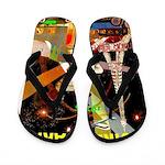 Foire De Paris Vintage Travel Poster Flip Flops
