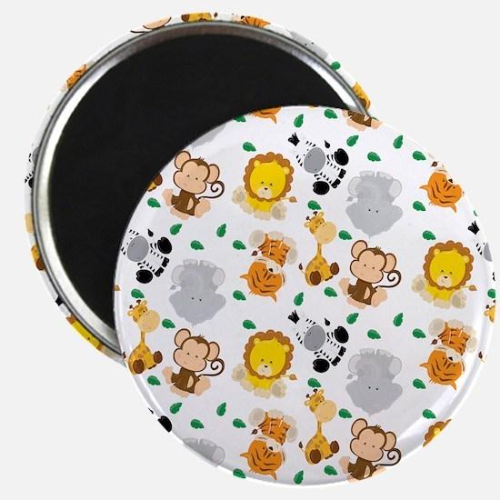 Baby Safari Animals Pattern Magnets