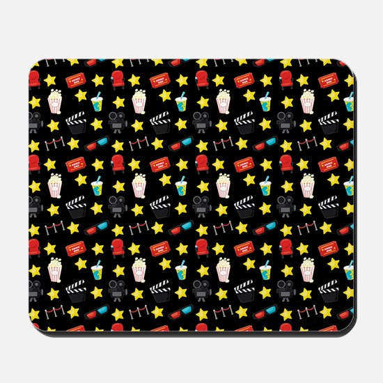 Movie Themed Items Pattern Mousepad