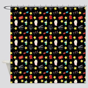 Movie Themed Items Pattern Shower Curtain