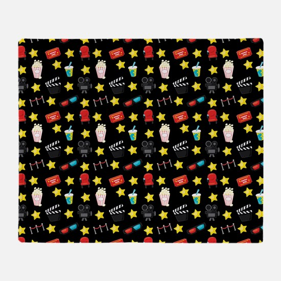 Movie Themed Items Pattern Throw Blanket