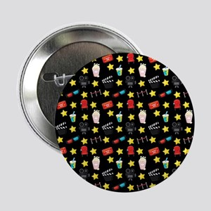 """Movie Themed Items Pattern 2.25"""" Button"""