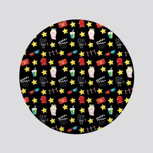 Movie Themed Items Pattern Button