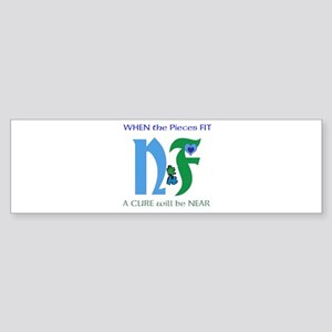 NF single design-white Bumper Sticker