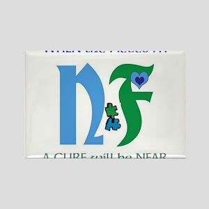 NF single design-white Magnets
