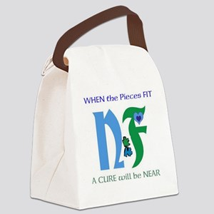 NF single design-white Canvas Lunch Bag