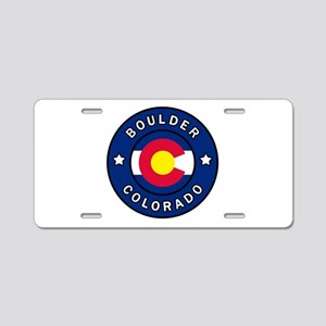 Boulder Colorado Aluminum License Plate