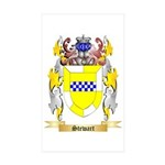 Stewart (Ireland) Sticker (Rectangle 50 pk)